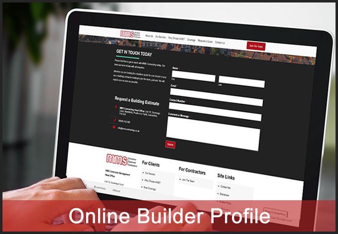 Online builder profile